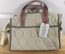 Cinda b Crosstown Satchel Scala Ivory Purse Handbag New With Tags