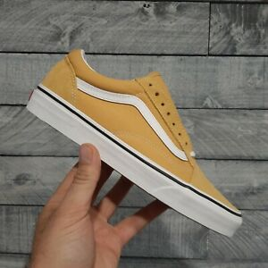 Vans OLD SKOOL Ochre/White Men's Skate Shoes Size 8.5