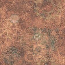 G56223 Steampunk Metallic Copper Mottled Marble Effect Wallpaper