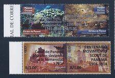 PANAMA STAMP (pair) NEW OVERPRINTS $1.00 AND $5.00 EACH X 2 MNH OG