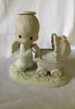 Baby's First Trip Precious Moments, Angel Pushing Buggy Figurine