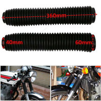 2x 360MM Fork Dust Covers Gaiters Boots Shock Rubber Fits Motorcycle Dirt Bike