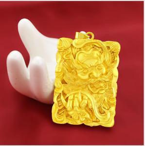 Men's Retro amulet 23K 24K THAI BAHT YELLOW GOLD GP Necklace pendant