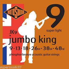 Rotosound JK9 Jumboking phosphor bronze acoustic guitare strings 9-48 super light