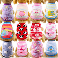 Autumn Winter Cat Dog Vest Clothes Warm Small Dogs Coat Jacket Chihuahua Sweater