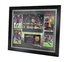 Lionel Messi Signed Barcelona Photo Poster FRAMED Memorabilia Limited Edition