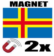 2 x ALAND ISLAN Drapeau Magnet 6x3 cm Aimant déco ALAND ISLAN magnétique frigo