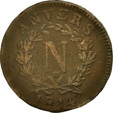 [#473143] Monnaie, FRENCH STATES, ANTWERP, 10 Centimes, 1814, Anvers, TB, Bronze