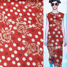 Big Floral and polka dot print 100% pure silk georgette silk fabric,SCG109