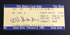 Willy Bill Shoemaker Signed Last Ride Ticket Racing HOF Breeders Cup JSA