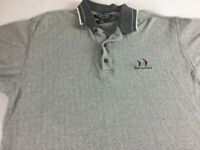 Hilton Head Polo Shirt VTG 90s Mens Large Gray South Carolina Island Golf Ocean