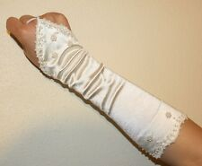 Pearl Fingerless Ivory Bridal Wedding Gloves FREE P&P