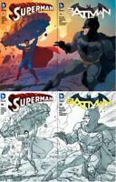 Superman #50 & Batman #50 Madness Games Middleton Variants Set of all 4