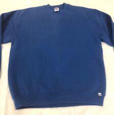 Vintage Russell Athletic 90s Blank Blue Crewneck Sweatshirt Mens Large USA Made