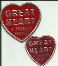 """New listing Coal Mine Two Scatter Tags Trade Name """"Great Heart"""" Peabody Coal Harlan Co. Ky"""