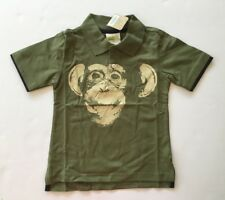 NWT Gymboree Crazy 8 Size 2T 2 Years Olive Green Chimpanzee Monkey Polo Shirt