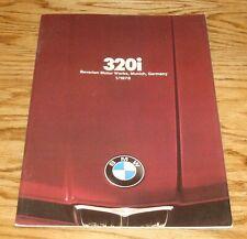 Original 1977 - 1978 BMW 320i Sales Brochure 77 78
