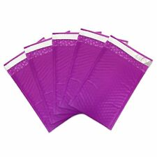 "50 #000 PURPLE Poly Bubble Mailers Envelopes Bags 4x8 Extra Wide Bag 4"" x 8"""