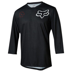 Fox Indicator 3/4 Asym Cycling Jersey (2018) - Black - Size Large