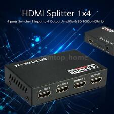 1080P HDMI AUTO Switch Splitter 1 Input to 4 Output HUB Box for DVD HDTV PC 4F37