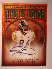 2006 Hines Ward Topps Rink of Honor Autograph #RH-HW Mint Condition