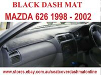DASH MAT, BLACK DASHMAT,DASHBOARD COVER FIT Mazda 626 1998-2002, BLACK