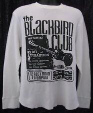 THE BLACKBIRD CLUB GAP SZ XL WHITE THERMAL BLACK LETTERING 100%COTTON