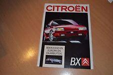 CATALOGUE Citroën BX de 1989 Pays-Bas