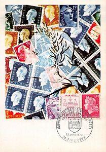 Carte Maximum FDC France TIMBRES DE LA RÉPUBLIQUE d'après CHEFFER Juin 1970 n2