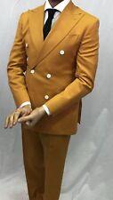 Orange Super 150 Cerruti Wool Double Breasted Suit