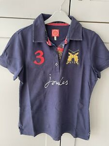 Joules Beaufort Blue Classic Fit Casual Polo Shirt Size 18 L