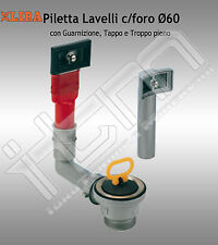 Piletta LIRA Lavelli Foro Ø60 con Troppo Pieno Guarnizione e Tappo 1711.008