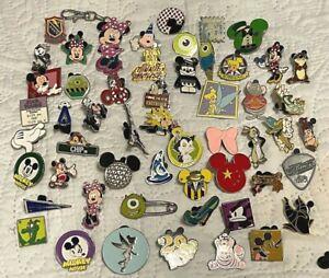 Lot of 53 Disney Trading Pins with bonus Minnie Lanyard Medal