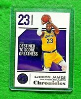 LEBRON JAMES DESTINED TO SCORE GREATNESS CARD LAKERS 2018-19 PANINI CHRONICLES