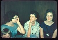 Group of Pretty Woman Candid Photo 1950s Vintage 35mm Color Slide
