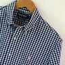 Mens Ralph Lauren Golf Blue White Gingham Long Sleeve Shirt Size L Large