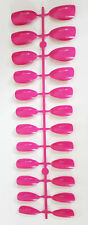 24 FULL COVER  STILETTO POINT FALSE FAKE NAILS TIPS + GLUE HOT PINK NAIL TIP