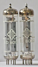 TELEFUNKEN ED8000 closely matched pair NOS, tested, Ulm Germany DIY amplifier