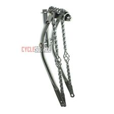 "20"" Straight Cage Square Twisted Spring Fork 1"" Chrome Lowrider Bike Bicycle"