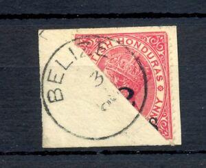 BRITISH HONDURAS- STAMP BISECTED ON PIECE - PM - BELIZE -