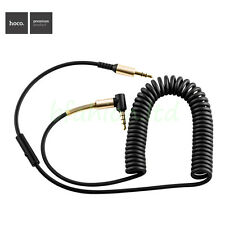 HOCO Coiled 3.5mm Jack Male To Male AUX Extension Audio Stereo Cable With Mic 1M