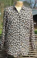 BNWT - ZARA Stunning Leopard Animal Print Shirt Blouse - Size Small