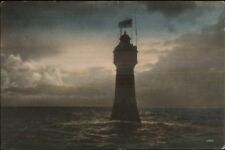 Germany Lighthouse - Abend am Rotesand - Leuchturm c1910 Postcard
