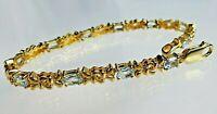 topmk-schmuck Armband, massiv 925er/goldplattiert, BLAUTOPAS