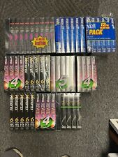 Lot of 54 New Sealed VHS VCR Blank Cassette Tapes Tdk ,rca, maxell, Fuji