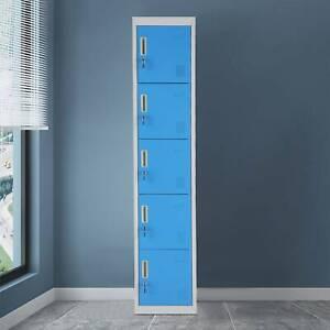 5 Door Gym Changing Room Lockers Locker Metal Steel Staff Storage UK