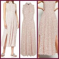 New Look Ladies Off White Floral Print Summer Holiday Dress Size 6 - 18