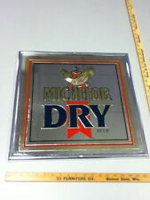 Michelob beer sign bar vintage brand Dry 1989 mirror Anheuser-Busch Brewery WT2