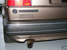 Edelstahlendrohr VA Endrohr Schrick SR1 SR-1 S-Rohr poliert VW Golf 1 2 GTI mk2