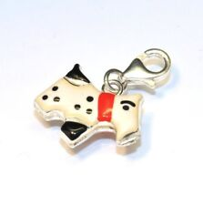 3D Snoopy Dog Charm Pendant with Clasp Bail Silver 925